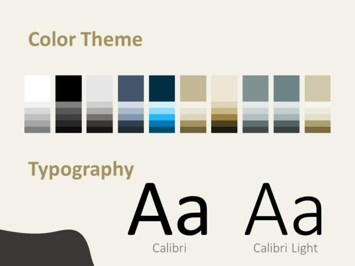 Free Horses Template for PowerPoint – Colors and Fonts