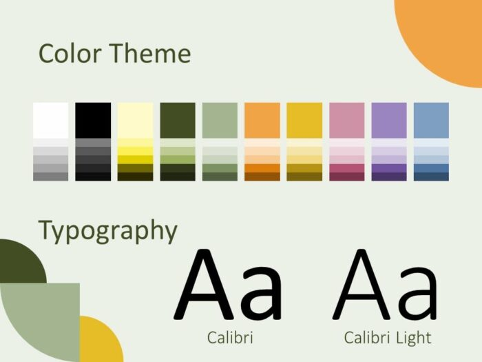 Free Quadrants Template for PowerPoint – Colors and Fonts