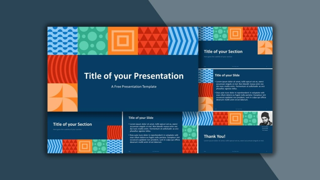 Free Neo Geometric Google Slides Theme and PowerPoint Template