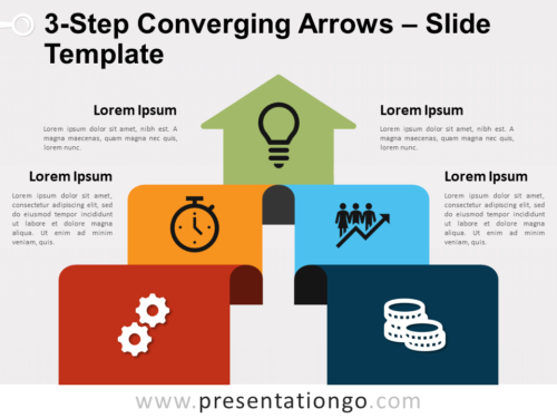 Free 3-Step Converging Arrows for PowerPoint