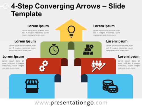 Free 4-Step Converging Arrows for PowerPoint