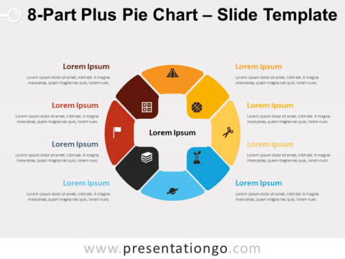 Free 8-Part Plus Pie Chart for PowerPoint