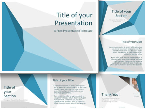 Free Abstract Origami Template for PowerPoint and Google Slides