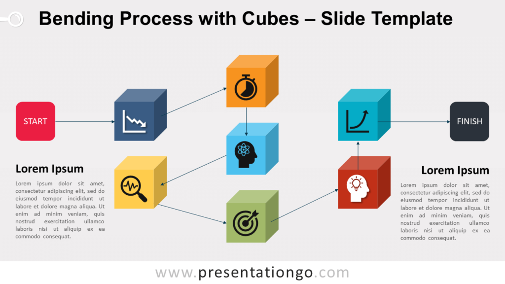 Free Bending Process with Cubes for PowerPoint and Google Slides