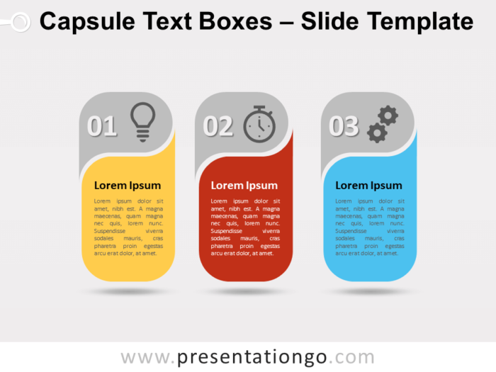Free Capsule Text Boxes for PowerPoint