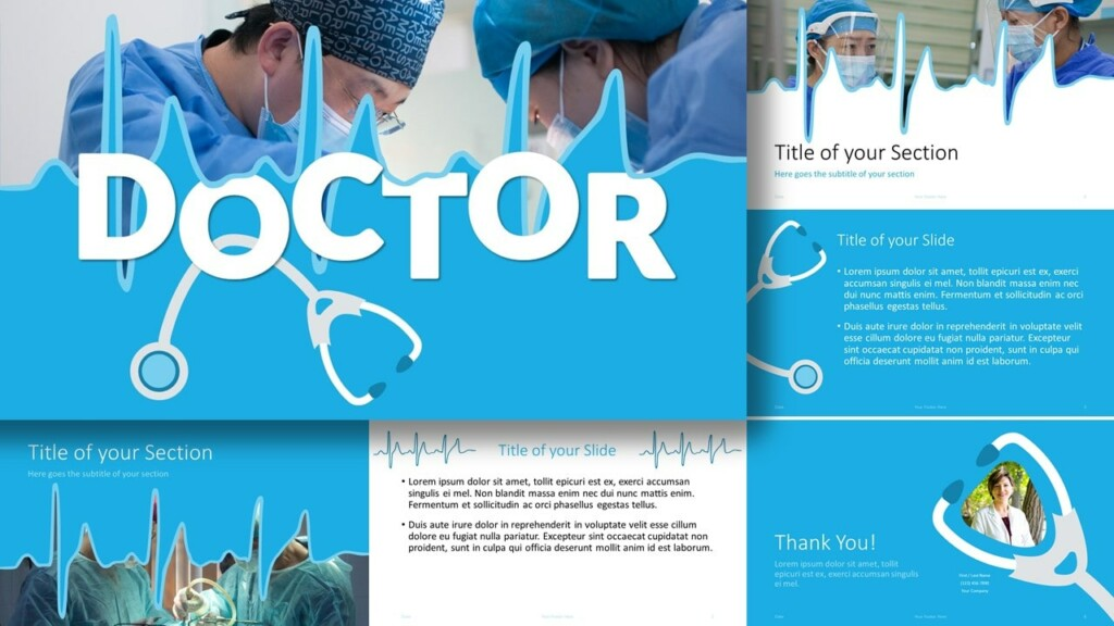 Free DOCTOR Template for Google Slides and PowerPoint