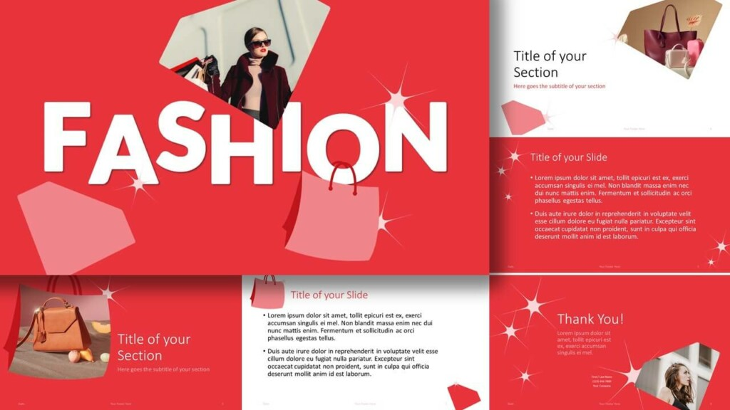 Free FASHION Template for Google Slides and PowerPoint