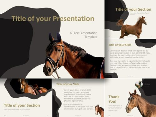 Free Horses Template for PowerPoint and Google Slides
