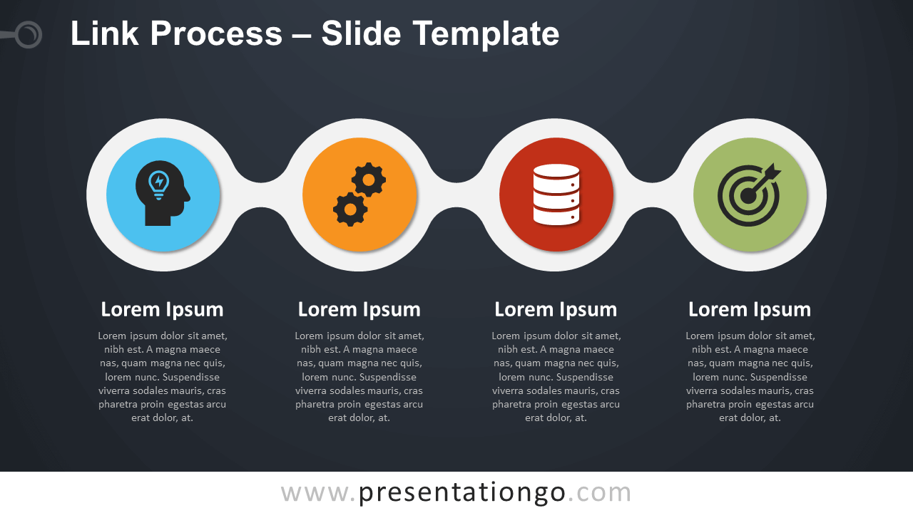 Free Link Process Infographic for PowerPoint and Google Slides