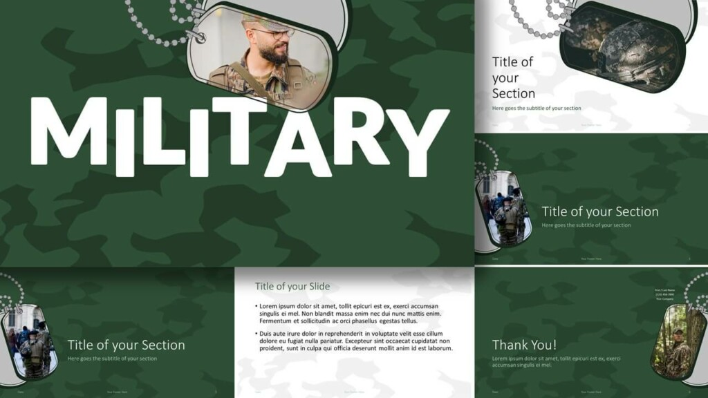 Free MILITARY Template for Google Slides and PowerPoint