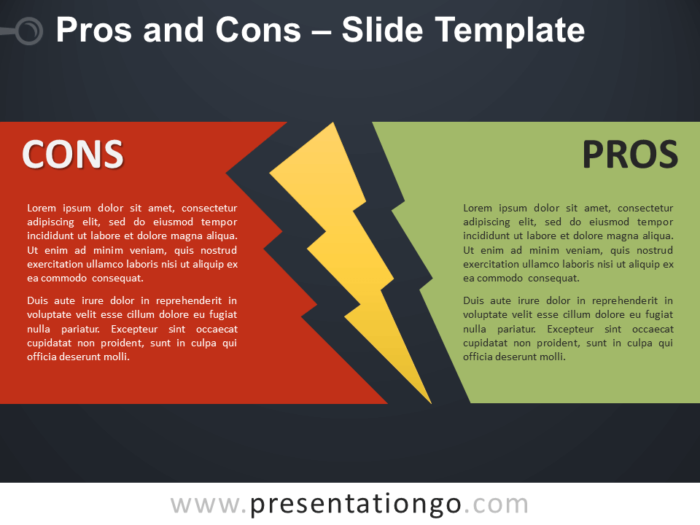 Free Pros and Cons Infographic for PowerPoint