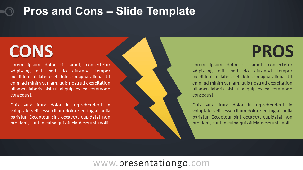 Free Pros and Cons Infographic for PowerPoint and Google Slides