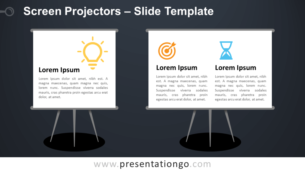 Free Screen Projectors Infographic for PowerPoint and Google Slides