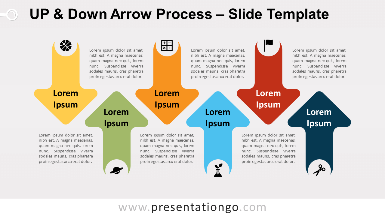 Free Up & Down Arrow Process for PowerPoint and Google Slides