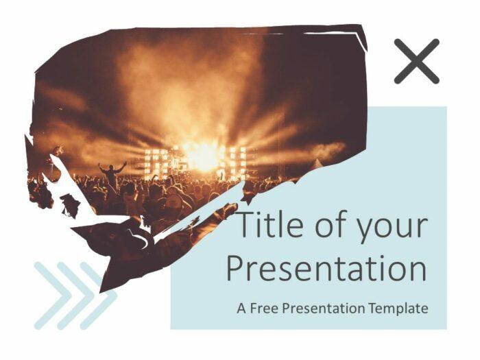 Free Concert Template for Google Slides - Cover Slide