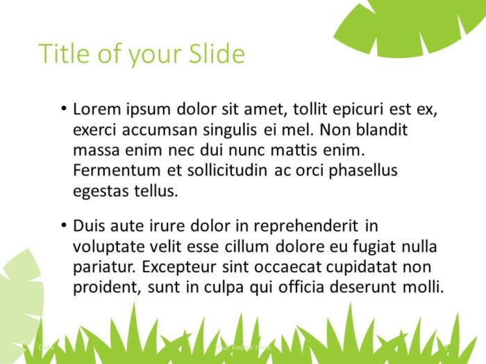 Free ECOLOGY Template for PowerPoint – Title and Content Slide (Variant 1)