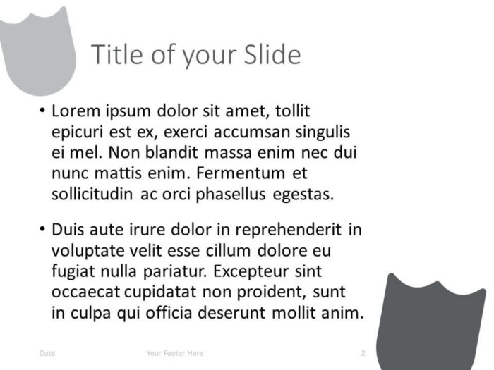 Free SECURITY Template for PowerPoint – Title and Content Slide (Variant 1)