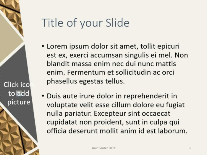 Free Deluxe Template for PowerPoint – Title and Content (Variant 2)