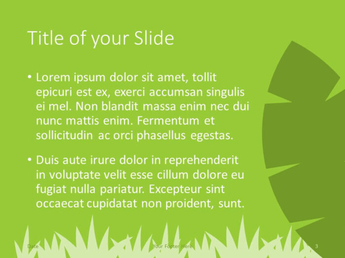Free ECOLOGY Template for PowerPoint – Title and Content (Variant 2)