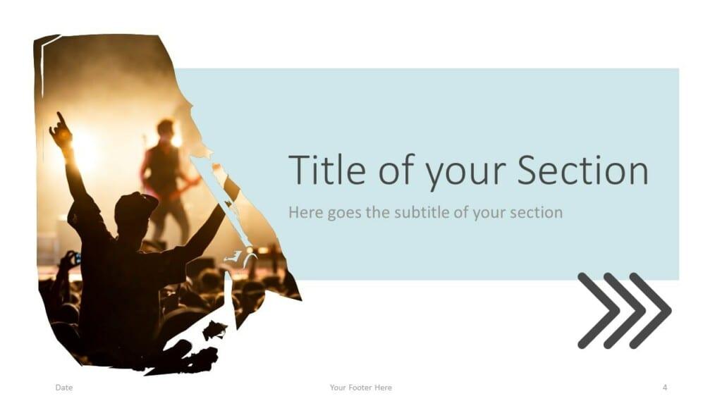 Free Concert Template for Google Slides – Section Slide (Variant 1)