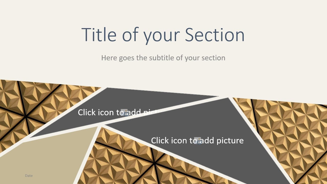 Free Deluxe Template for Google Slides – Section Slide (Variant 1)