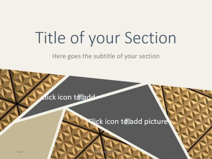 Free Deluxe Template for PowerPoint – Section Slide (Variant 1)
