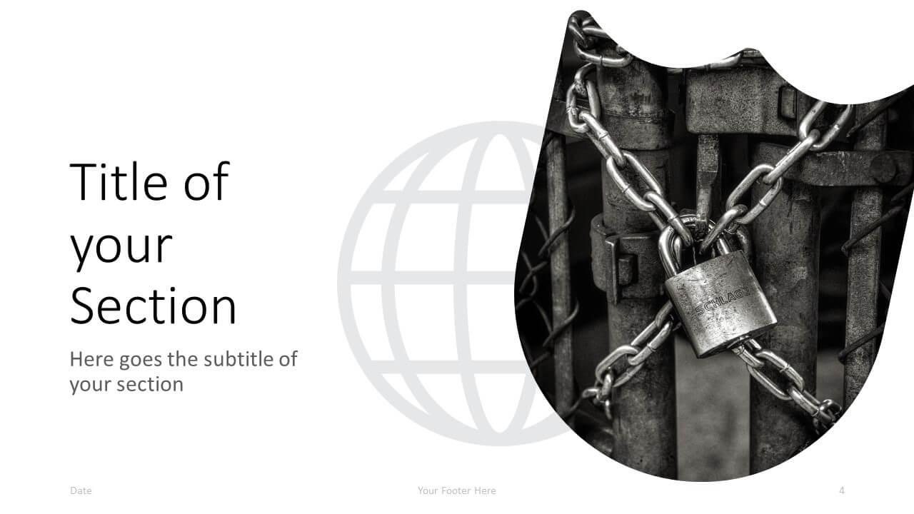 Free SECURITY Template for Google Slides – Section Slide (Variant 1)