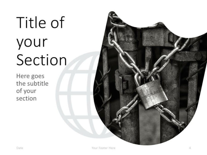 Free SECURITY Template for PowerPoint – Section Slide (Variant 1)