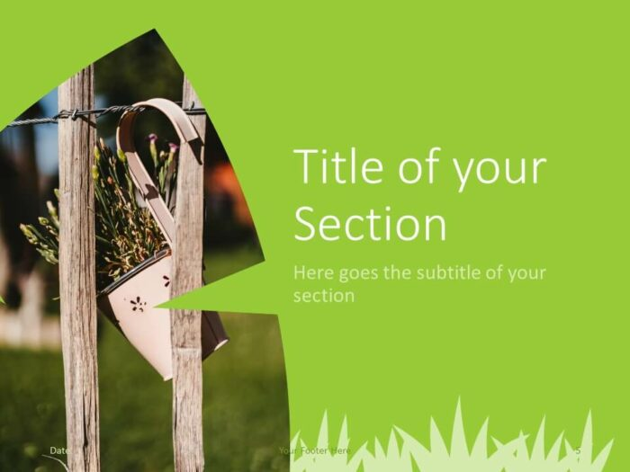 Free ECOLOGY Template for PowerPoint – Section Slide (Variant 2)