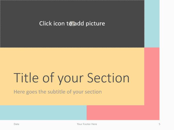 Free Framed Pastel Template for PowerPoint – Section Slide (Variant 2)