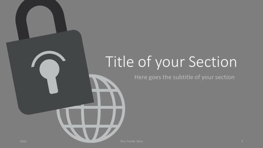 Free SECURITY Template for Google Slides – Section Slide (Variant 2)