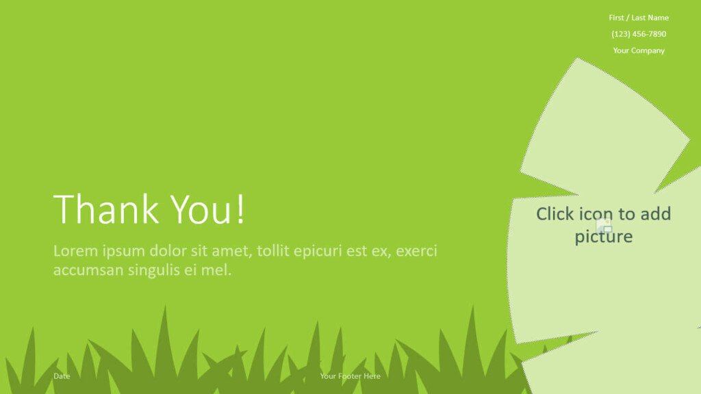 Free ECOLOGY Template for Google Slides - Closing / Thank you