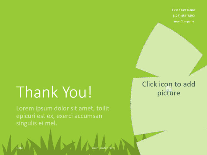Free ECOLOGY Template for PowerPoint - Closing / Thank you