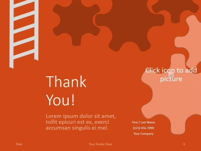 Free ENGINEER Template for PowerPoint - Closing / Thank you