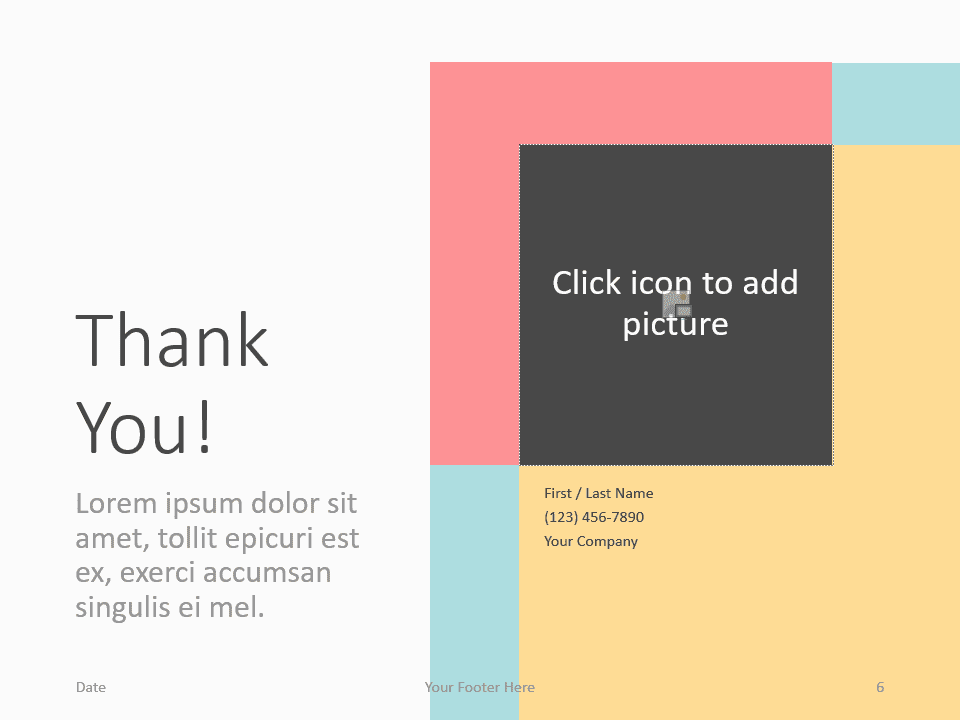 Free Framed Pastel Template for PowerPoint - Closing / Thank you