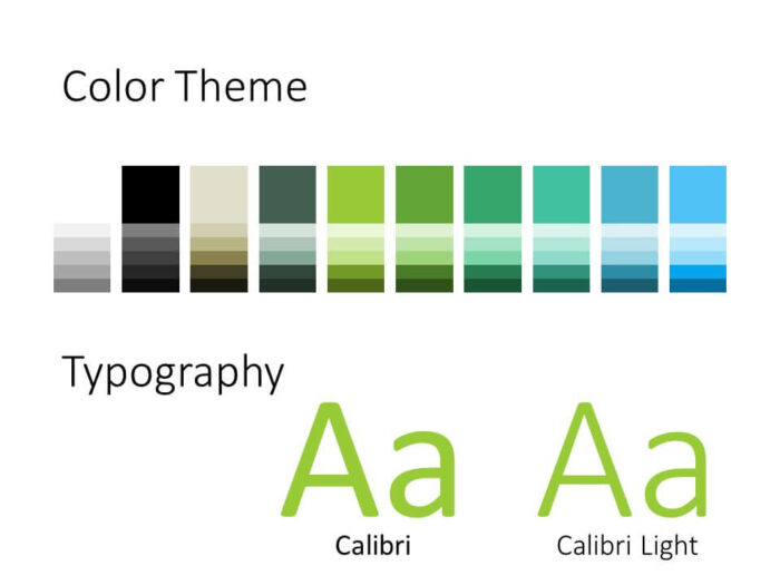 Free ECOLOGY Template for PowerPoint – Colors and Fonts