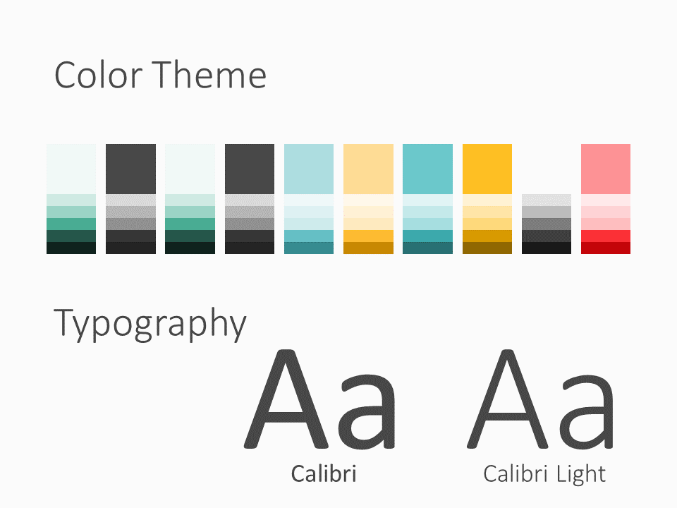 Free Framed Pastel Template for PowerPoint – Colors and Fonts