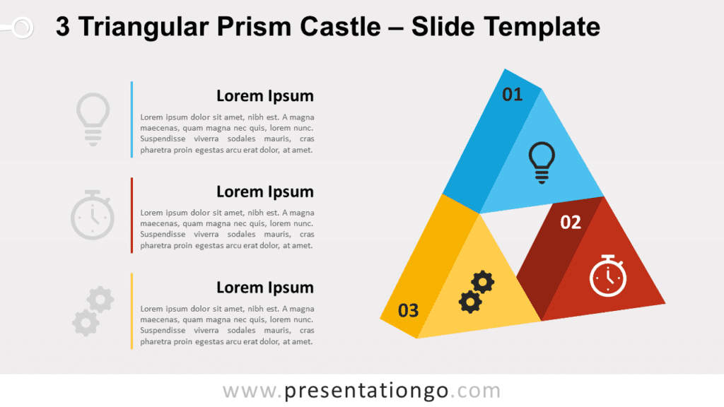 Free 3 Triangular Prism Castle for PowerPoint and Google Slides