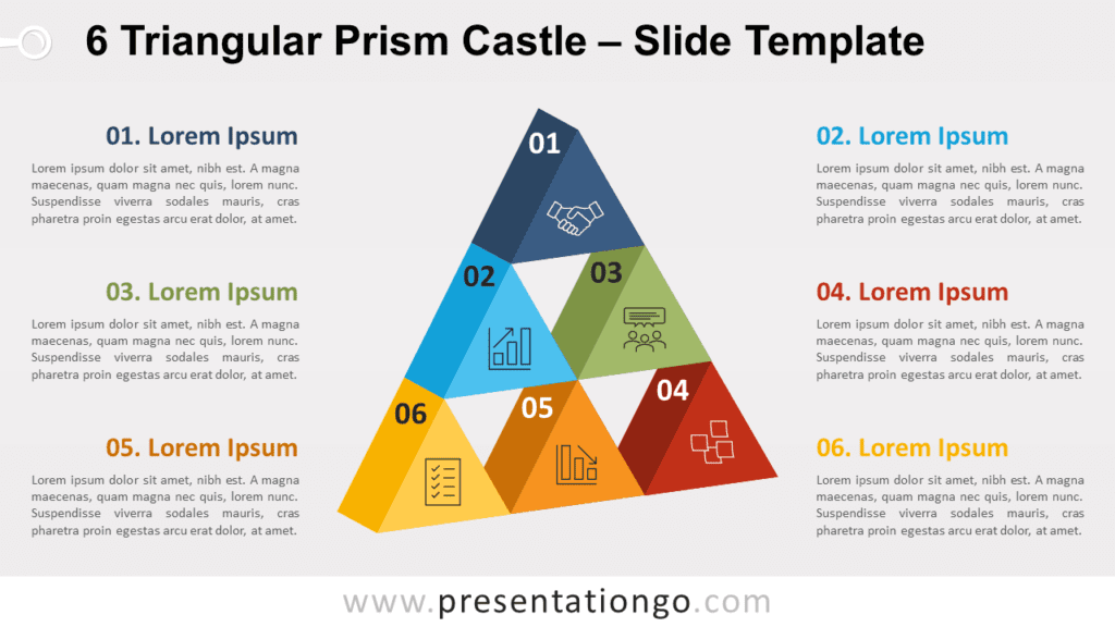 Free 6 Triangular Prism Castle for PowerPoint and Google Slides