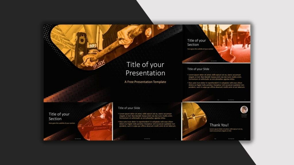 Black Template for your PowerPoint Presentation