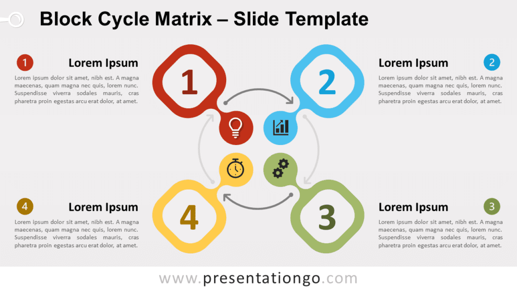 Free Block Cycle Matrix for PowerPoint and Google Slides
