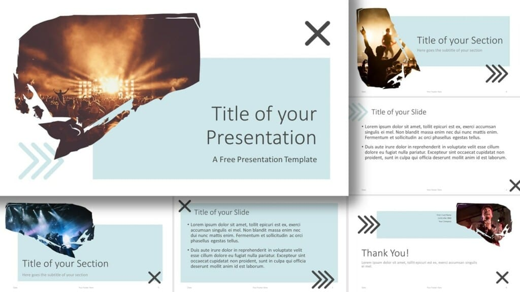 Free Concert Template for Google Slides and PowerPoint