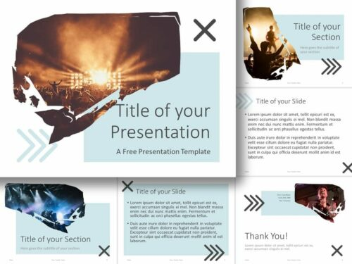 Free Concert Template for PowerPoint and Google Slides