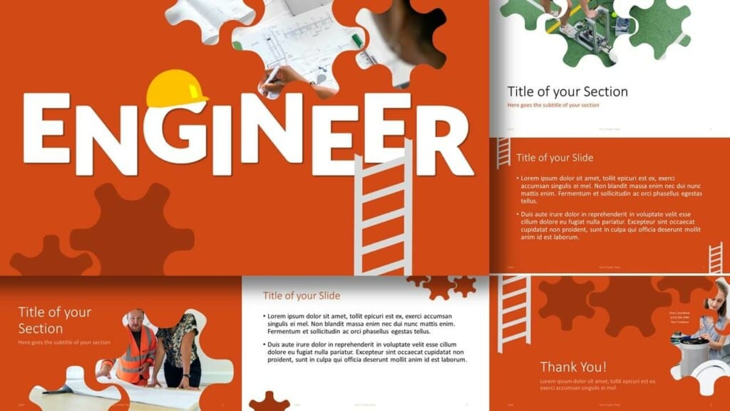 Free ENGINEER Template for Google Slides and PowerPoint