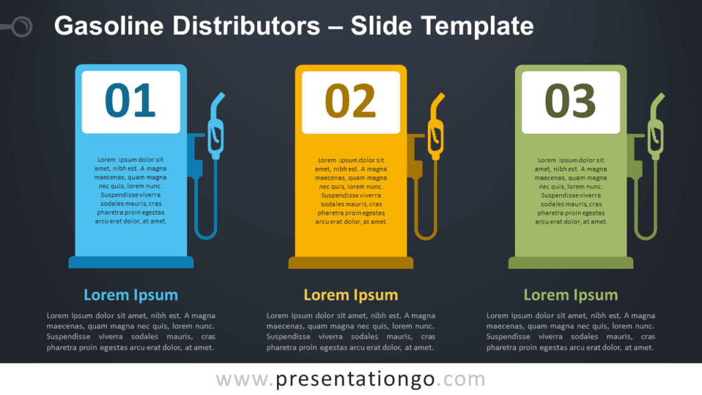 Free Gasoline Distributors Infographic for PowerPoint and Google Slides