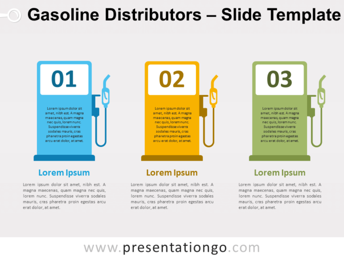 Free Gasoline Distributors for PowerPoint