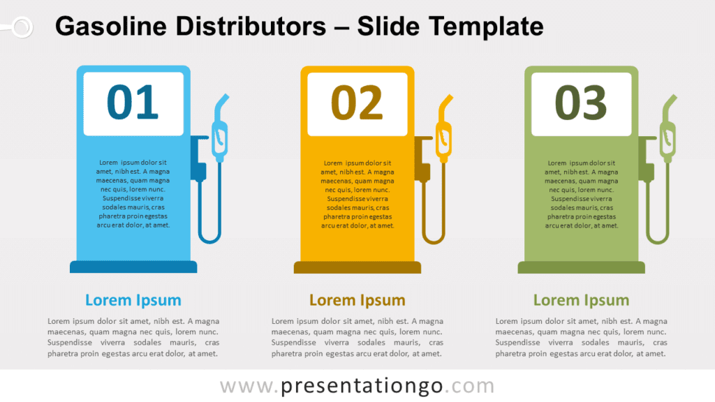 Free Gasoline Distributors for PowerPoint and Google Slides