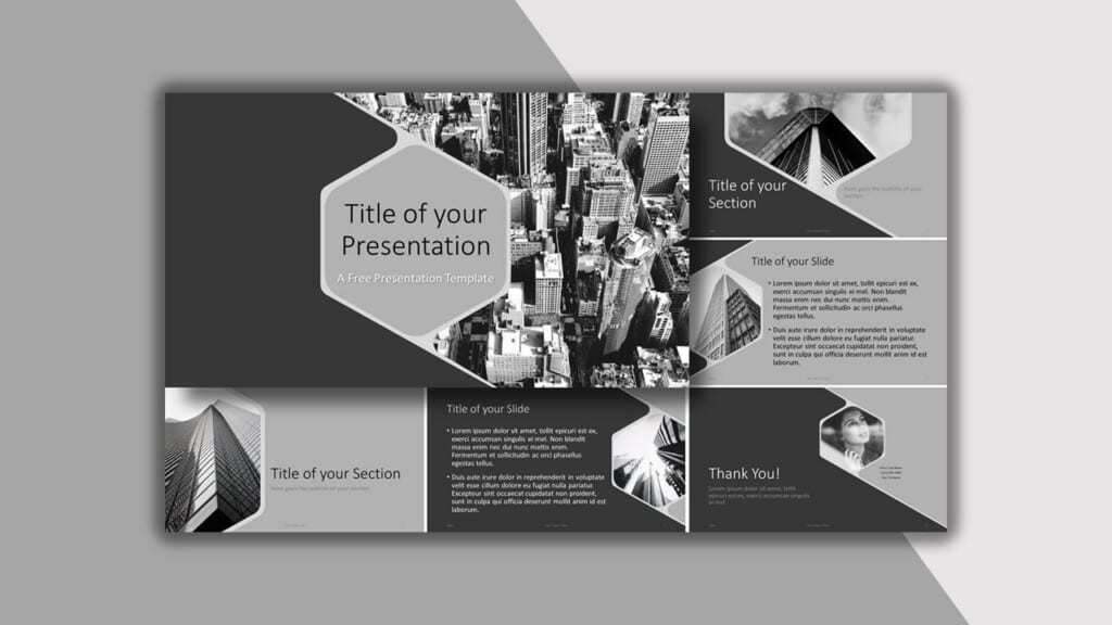 Gray Template for your PowerPoint Presentation
