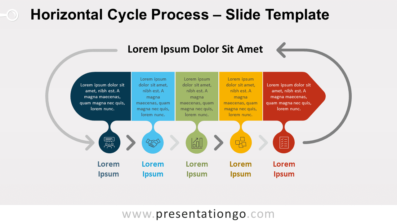 Free Horizontal Cycle Process for PowerPoint and Google Slides