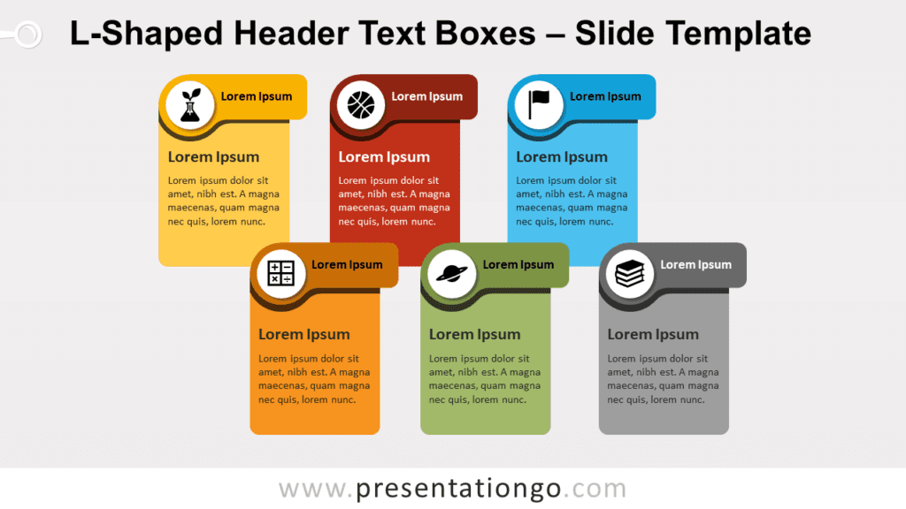 Free L-Shaped Header Text Boxes for PowerPoint and Google Slides